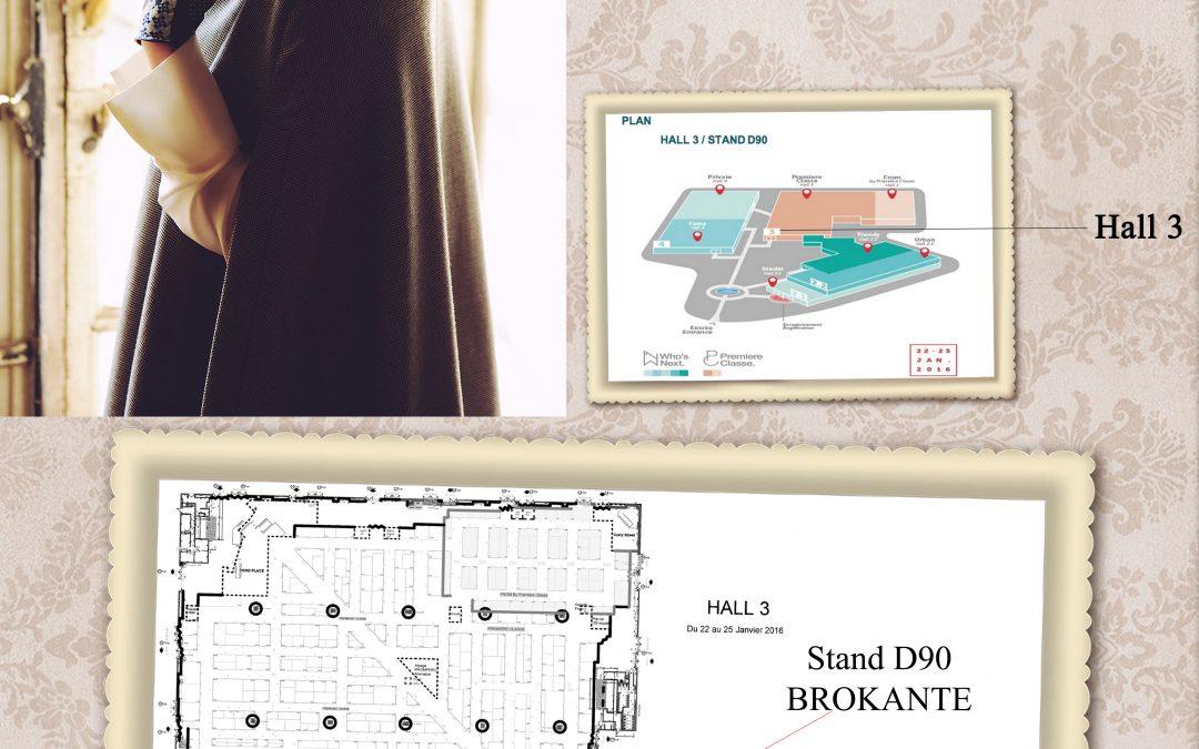 Brokante – salon Première classe Janvier 2016