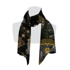 écharpe pour femme noir et or