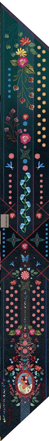 écharpe pour femme bleu et fleuri