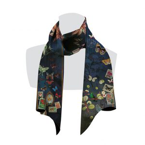 écharpe pour femme avec des papillons