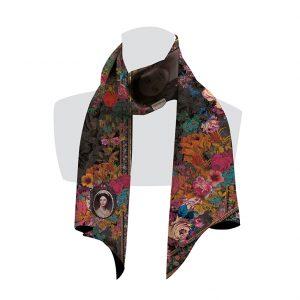 écharpe pour femme fleuri et colorée