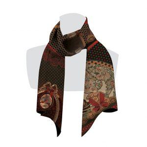 écharpe pour femme à pois