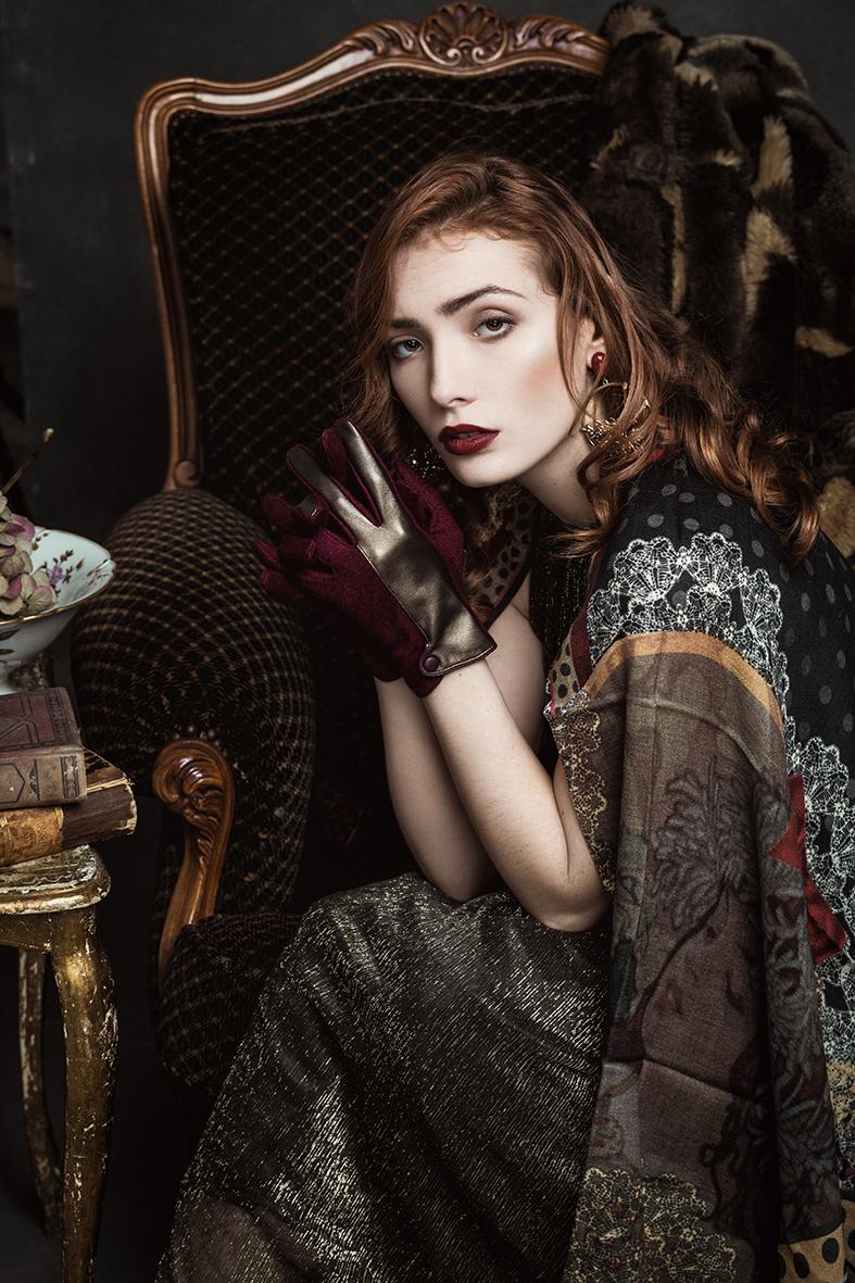 gants femme Brokante tissu
