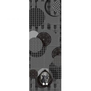 étole en cachemire en noir et blanc